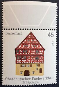 BRD-2010-1-Marke-Rand-O-Oberdeutscher-Fachwerkbau-von-1582-in-Eppingen-MiNr-2823