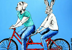 GILLIE-AND-MARC-Direct-from-artists-Authentic-Art-Print-039-Love-039-039-Bicycle-039