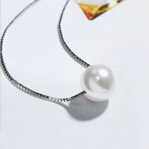 60-Off-Round-Natural-Pearl-Gemstone-925-Sterling-Silver-Charming-Chain-Necklace
