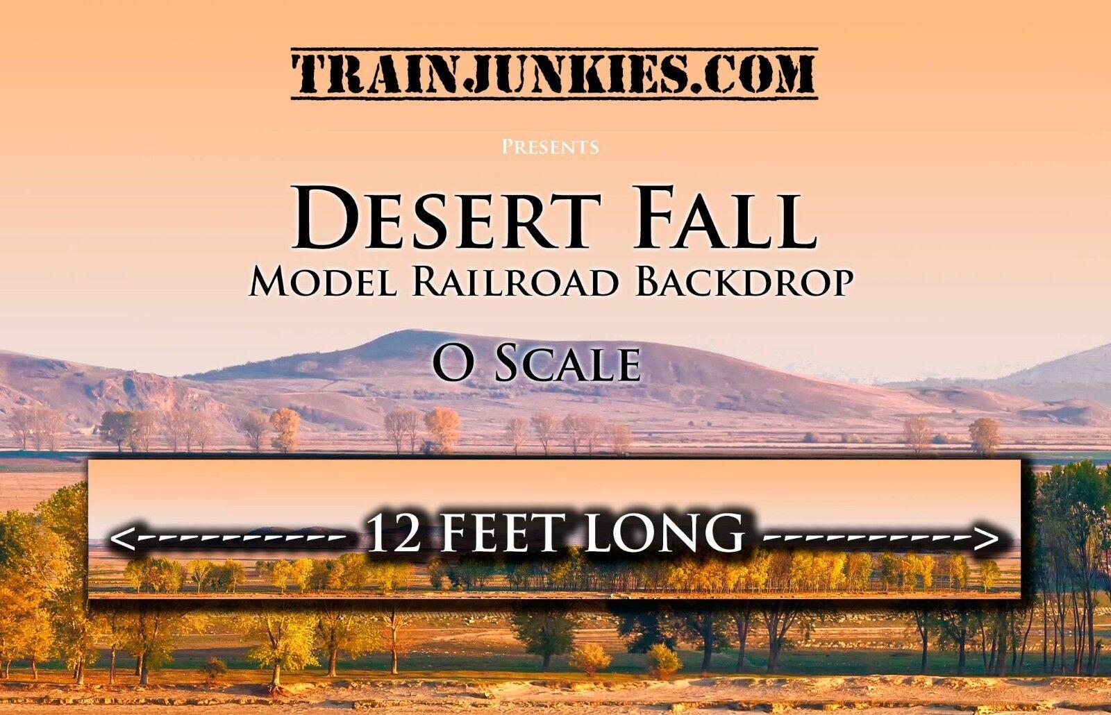 Tren Junkies o escala  caída del desierto  modelo del ferrocarril telón de fondo 24x144