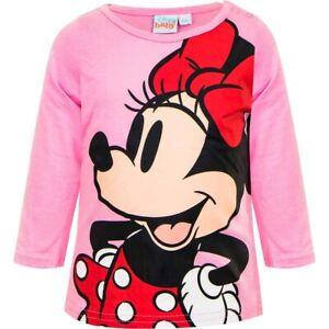 Disney Baby Minnie Langarmshirt Micky Maus Kinder Mädchen Shirt T-Shirt Neu 6-24