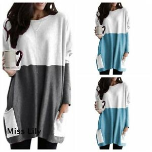 Blouse-Casual-Plus-Size-Women-Ladies-cosy-Long-Sleeve-Slim-UK-Tops-Pullover