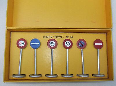 Verkehrsschilder Schilder Panneaux Route Set Ref 41 diecast 1:43 Dinky Toys Atla