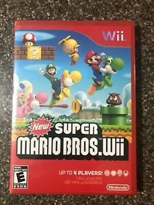 New-Super-Mario-Bros-Wii-Nintendo-Wii-New-Factory-Sealed-Free-Ship
