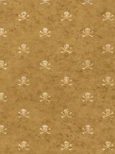 York Pirate Vintage Skull and Cross Bone Wallpaper BT2822 NEW Multiple Available