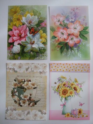 "Hunkydory 24 mixed Little Book of Card Toppers /""Floral Favourites/"" see pictures"