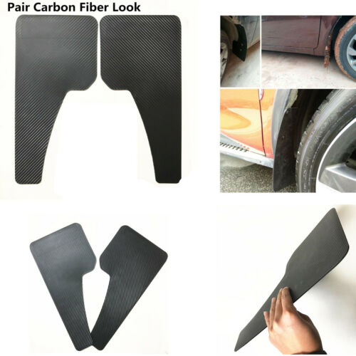 BLACK 2x Truck Car Mud Flap Front Rear Wheel Black ABS Plastic Mud flaps