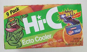 Hi-C-Ecto-Cooler-Empty-Box-Nintendo-Power-Glove-NES-Ad-1989-9-Pack-Ghostbusters