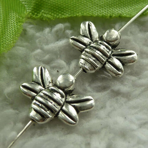 Free ship 300 pieces tibet silver bee spacer 14x11mm B3793