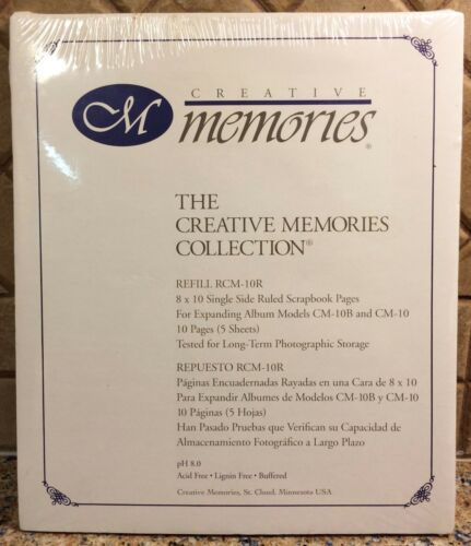 Creative Memories 8 X 10 RULED Both Sides Refill Pages RCM-10R NEW