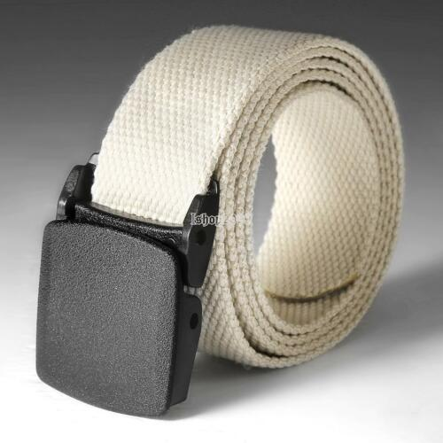 Men Women Automatic Nylon Belt Buckle Military Fans Tactical Canvas Belt US