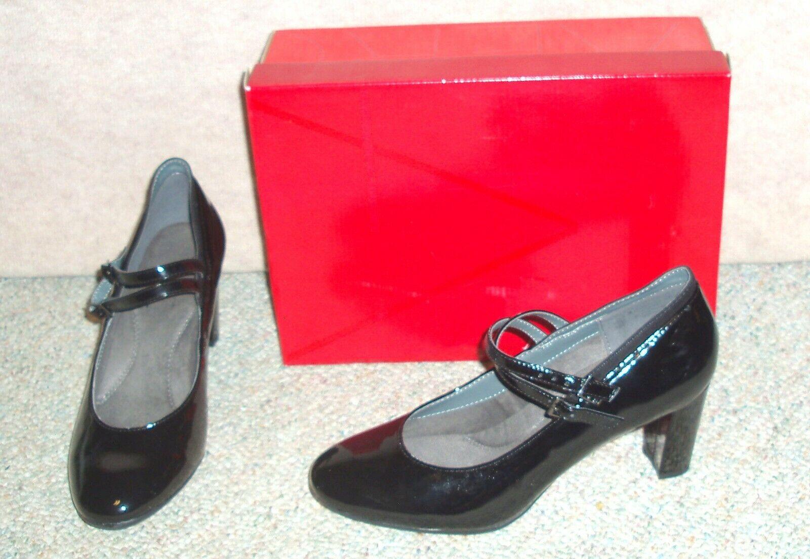 Women's AEROSOLES Broadway Ave Black Combo 820 pumps / shoes , size 8.5 M