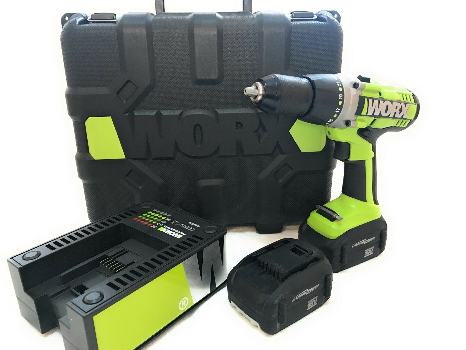 WORX Cordless Drill WU166 PROFESSIONAL 18V/2,6Ah