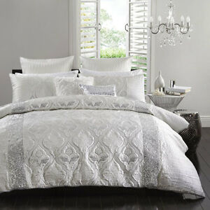 LOPEZ-SILVER-Queen-Size-Bed-Doona-Quilt-Cover-Set-Ultima-Logan-and-Mason-NEW