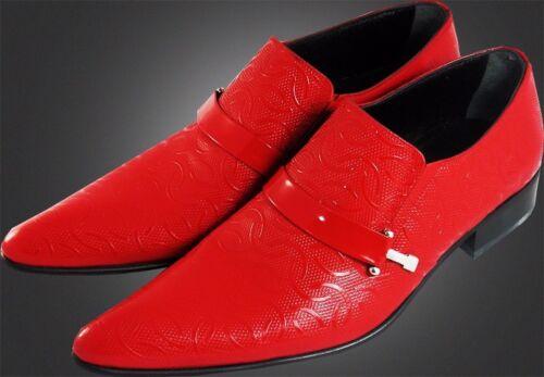 Kalbsleder Wellenmuster ChelsyItalienische Designer Rot Slipper Mit Original rosdxtQhBC