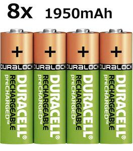 8x-Original-Duracell-AKKU-Ni-Mh-AA-1-2V-1950mAh-Rechargeable-Aufladbar-Lose-NEU