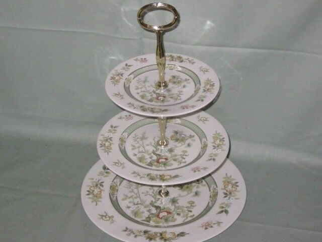 Royal Doulton Tonkin 3-Tier Hostess China Cake Plate Stand TC1107 & Royal Doulton Tonkin collection on eBay!