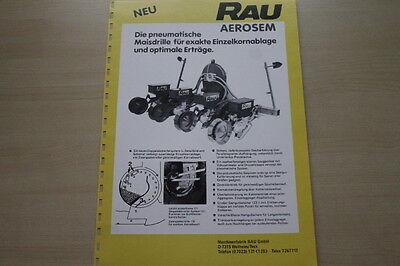 163663 Rau Maisdrille Aerosem Prospekt 03/1983 Perfekte Verarbeitung Automobilia Auto & Motorrad: Teile