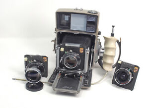 Linhof-70-Camera-Complete-3-Lenses-With-Cams-2-Rollex-Film-Backs-FREE-SHIPPING
