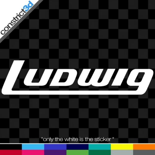 "LUDWIG DRUMS 8/"" VINYL DECALS *ANY COLOR* 2x"