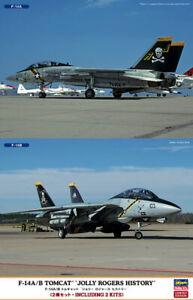 Hasegawa-02106-1-72-F-14A-B-Tomcat-034-Jolly-Rogers-History-2-Kits-Neuf