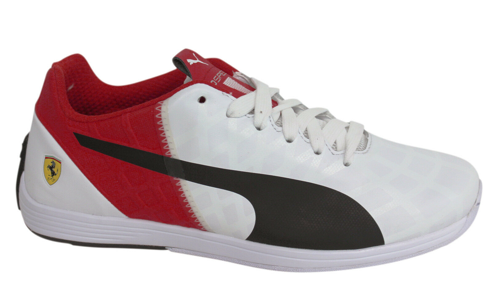 Puma evoSPEED 1.4 Lace Up White Red Leather Mens Trainers 305555 03 M7