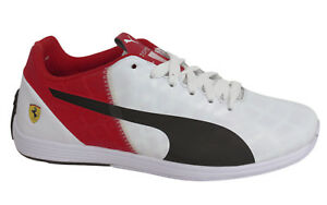Puma Evospeed 1.4 Lacci Bianco Rosso Pelle Scarpe Da Ginnastica Da Uomo 305555 03 M7