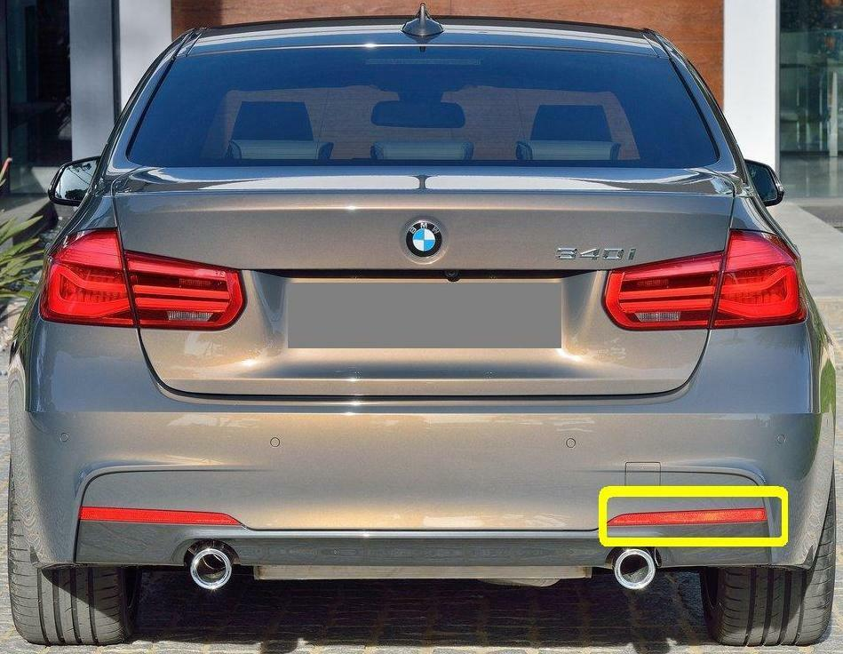 I-Match Auto Parts Right Passenger Side Front Bumper Reflector Replacement for 2012-2015 BMW 3 Series Sedan and 2014-2015 3 Series Wagon BM2555102 63147274522