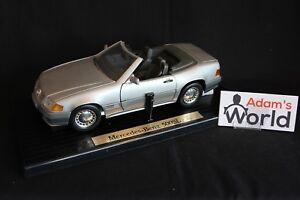 Bauer-Master-Toy-Mercedes-Benz-500-SL-Roadster-1989-1-18-silver-JS