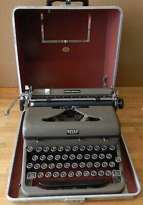 1942 Royal Tragbare Quiet Deluxe Schreibmaschine A-1109610 Mit Hülle - Angenehm Zu Schmecken