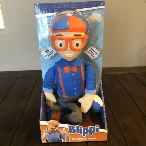 """New 2020! My Buddy Blippi Deluxe Talking 16/"""" Plush with Sounds Effects"""