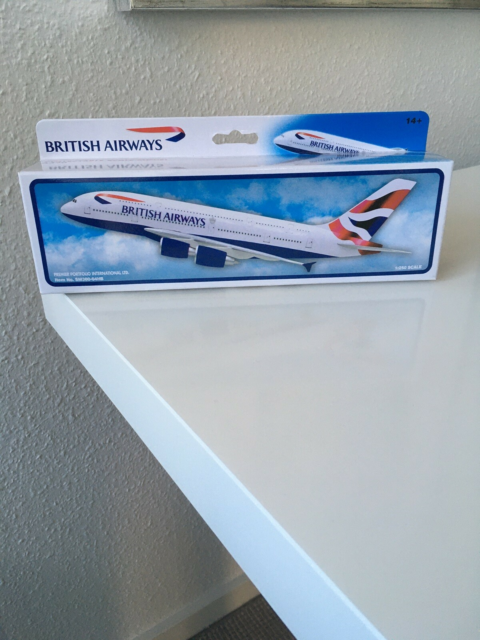 Modelfly, Airbus A380, skala 1:250, British Airways. Aldrig…