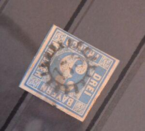 Bayern-3-Kreuzer-blau-Mi-Nr-2II2-gMR-034-175-034-Landshut