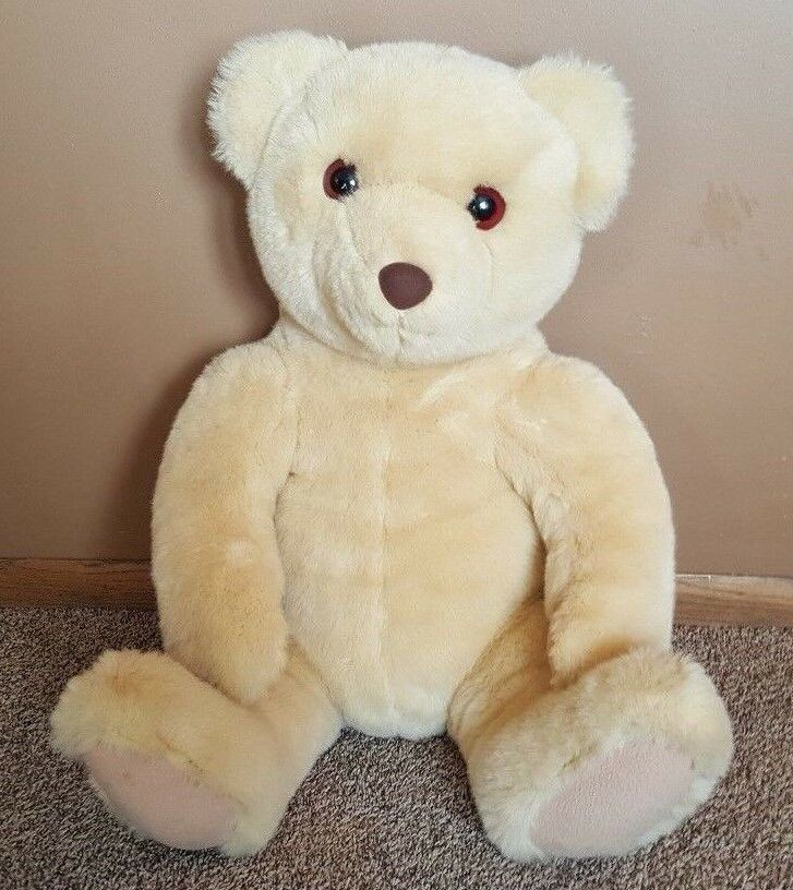 Hallmark JUMBO Tan TEDDY BEAR GIANT PLUSH STUFFED 33  TALL 25  Sitting