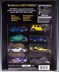 Hot-Wheels-FAO-Schwarz-The-History-of-Hot-Wheels-1-Set-of-8-Cars-1994-NIB