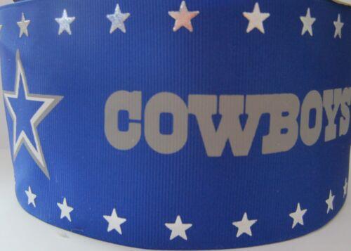 """3/"""" GROSGRAIN COWBOY FOOTBALL GROSGRAIN RIBBON FOR HAIR BOWS *SHIPS FREE"""