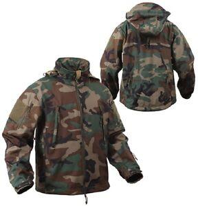 Us Special Spec Ops Tactical Armée Softshell Polaire Veste Woodland Camouflage Xxl-afficher Le Titre D'origine Beau Travail
