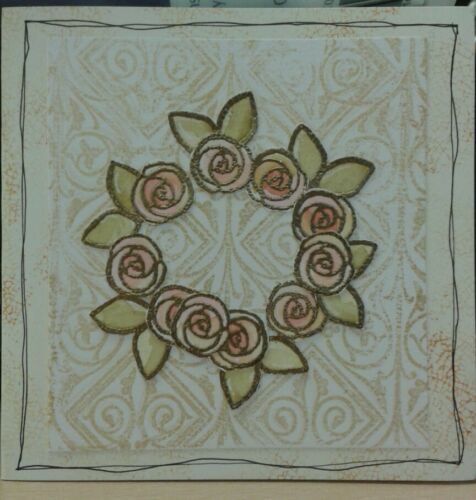 REDUCED Unmounted rubber stamps Retro Roses