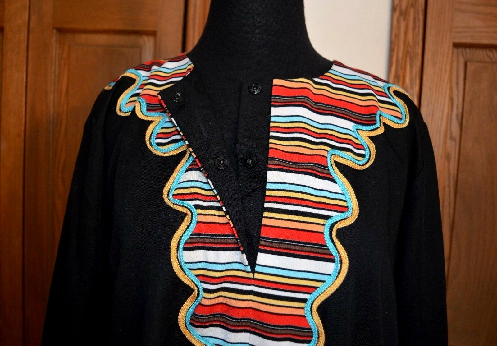 African Ceremonial Dress Hand Made Hand Tailored … - image 10