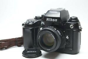[EXC +++++ mit Trageriemen] Nikon f4 SLR Film Kamera mit AF 50mm f/1.4 D Objektiv Japan #906