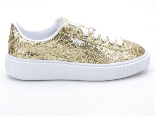 Basket Puma Glitter Platform Wn's 364093 Gold 02 Tddq0