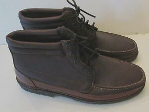 Sz 17 2 A NARROW Leather CHUKKA BOOTS Hitchcock? Made in USA Brown ...