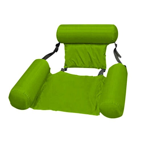 Inflatable Swimming Floating Chair Pool Seats Foldable Water Bed Lounge Chair ^