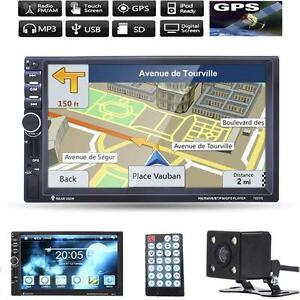 New-Lot-GPS-Navi-7-034-HD-2-Din-Bluetooth-Car-In-Dash-Radio-MP5-Player-Camera