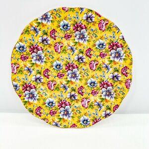 James-Sadler-Plate-Sophie-Chintz-Floral-Yellow-Purple-Pink-Scalloped-Edge-8-1-8-034