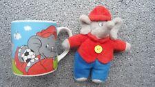 Benjamin Blümchen Kinder Tasse  von 2006 und Plüschfigur Gr.  14cm