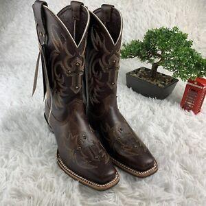 6c376b2b8e2 Details about Ariat Legend Spirit Yukon Womens Western Cowboy Boot Cross  Stud Sz 6 B $189 MSRP