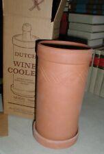 NOS Dutch Pottery Red Clay Terra Cota Vino Fresco Wine Chiller Cooler Box #7000