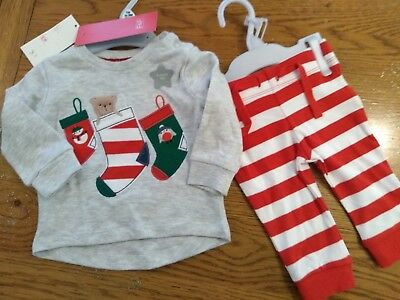 F/&F BABY BOY 2 PART SET BNWT CHRISTMAS OUTFIT 6-9 MONTHS