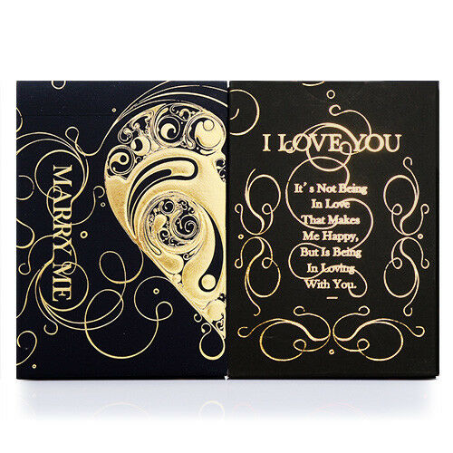 "Bicycle Deck Poker Spielkarten /""Love Promise Vow/"" Marry Me Black Edt Limited"